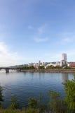 De horizon van Portland, Oregon royalty-vrije stock afbeelding