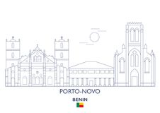 De Horizon van de Porto-Novostad, Benin Royalty-vrije Stock Afbeelding