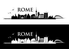 De horizon van Rome - Italië - vectorillustratie stock illustratie