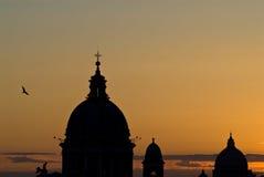 De horizon van Rome van de zonsondergang Royalty-vrije Stock Foto