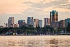 De Horizon van Rotterdam stock fotografie