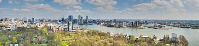 De horizon van Rotterdam, Nederland Royalty-vrije Stock Afbeelding