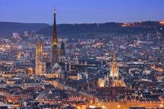 De horizon van Rouen Stock Afbeelding