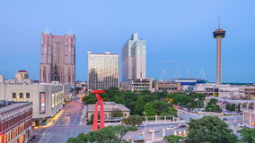 De horizon van San Antonio, Texas, de V.S. stock video