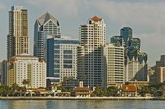 De horizon van San Diego, Californië Stock Foto's
