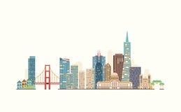 De horizon van San Francisco Stock Afbeeldingen