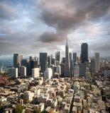 De horizon van San Francisco Stock Foto's