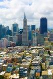 De horizon van San Francisco Royalty-vrije Stock Afbeeldingen