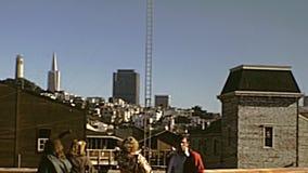 De horizon van San Francisco stock footage