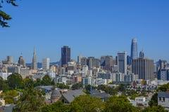 De horizon van San Francisco City royalty-vrije stock afbeeldingen