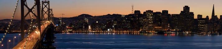 De Horizon van San Francisco (Panorama) Stock Afbeeldingen