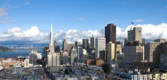 De Horizon van San Francisco (Panorama) Stock Foto's