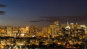 De horizon van San Francisco van Zuiden van Markt Stock Afbeeldingen