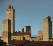 De horizon van San Gimignano Royalty-vrije Stock Afbeelding