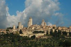 De Horizon van San Gimigniano in Toscanië Stock Foto's