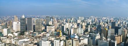 De horizon van San Paolo, Brazilië Stock Foto's