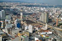 De horizon van San Paolo, Brazilië Stock Fotografie