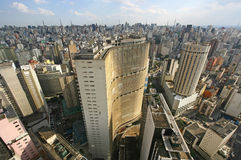 De horizon van Sao Paulo, Brazilië. Royalty-vrije Stock Afbeeldingen