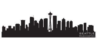 De Horizon van Seattle, Washington Gedetailleerd vectorsilhouet vector illustratie