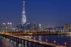 De horizon van Seoel, Korea Stock Afbeelding