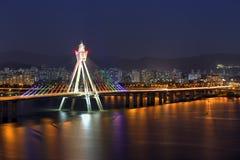 De horizon van Seoel, Korea royalty-vrije stock fotografie