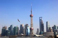De horizon van Shanghai Stock Afbeelding