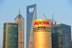 De horizon van Shanghai Stock Fotografie