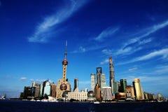 De horizon van Shanghai. Stock Afbeeldingen