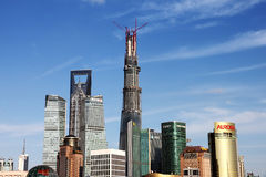 De horizon van Shanghai. Stock Afbeelding