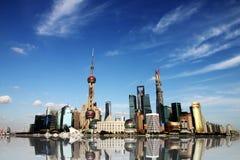 De horizon van Shanghai. Royalty-vrije Stock Afbeelding