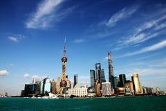 De horizon van Shanghai. Stock Foto