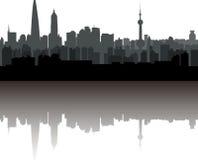 De horizon van Shanghai Royalty-vrije Stock Foto's