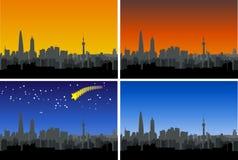 De horizon van Shanghai Royalty-vrije Stock Afbeeldingen