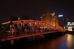 De Horizon van Shanghai bij Nacht Stock Foto's