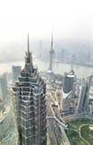 De horizon van Shanghai het overzien Royalty-vrije Stock Afbeeldingen