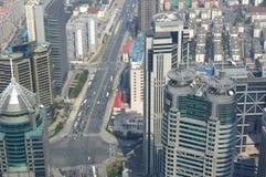 De horizon van Shanghai het overzien Royalty-vrije Stock Foto's