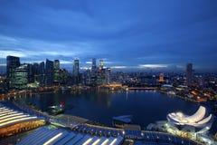 De horizon van Singapore Royalty-vrije Stock Afbeeldingen