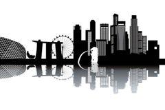 De horizon van Singapore royalty-vrije illustratie
