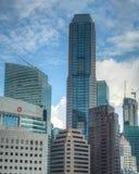 De horizon van Singapore CBD Stock Afbeelding