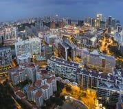 De Horizon van Singapore langs de Rivier van Singapore Stock Afbeeldingen