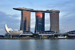 De Horizon van Singapore, Marina Bay Sands Stock Foto