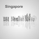 De horizon van Singapore voor uw ontwerp Stock Afbeelding