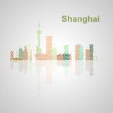 De horizon van Singapore voor uw ontwerp Royalty-vrije Stock Afbeeldingen