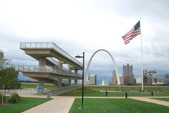 De Horizon van St.Louis - de Boog van de Gateway stock foto's