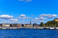 De horizon van Stockholm, Zweden Stock Afbeelding