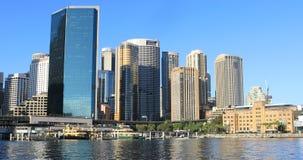 De horizon van Sydney, Australië op mooie dag 4K stock footage