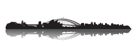De horizon van Sydney: Opera en Haven vector illustratie