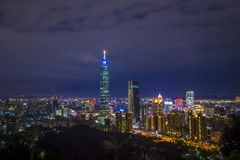 De horizon van Taipeh, Taiwan Royalty-vrije Stock Foto
