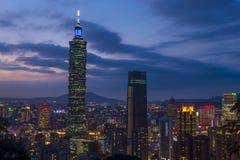 De horizon van Taipeh, Taiwan Stock Afbeeldingen