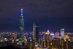 De horizon van Taipeh, Taiwan Stock Fotografie